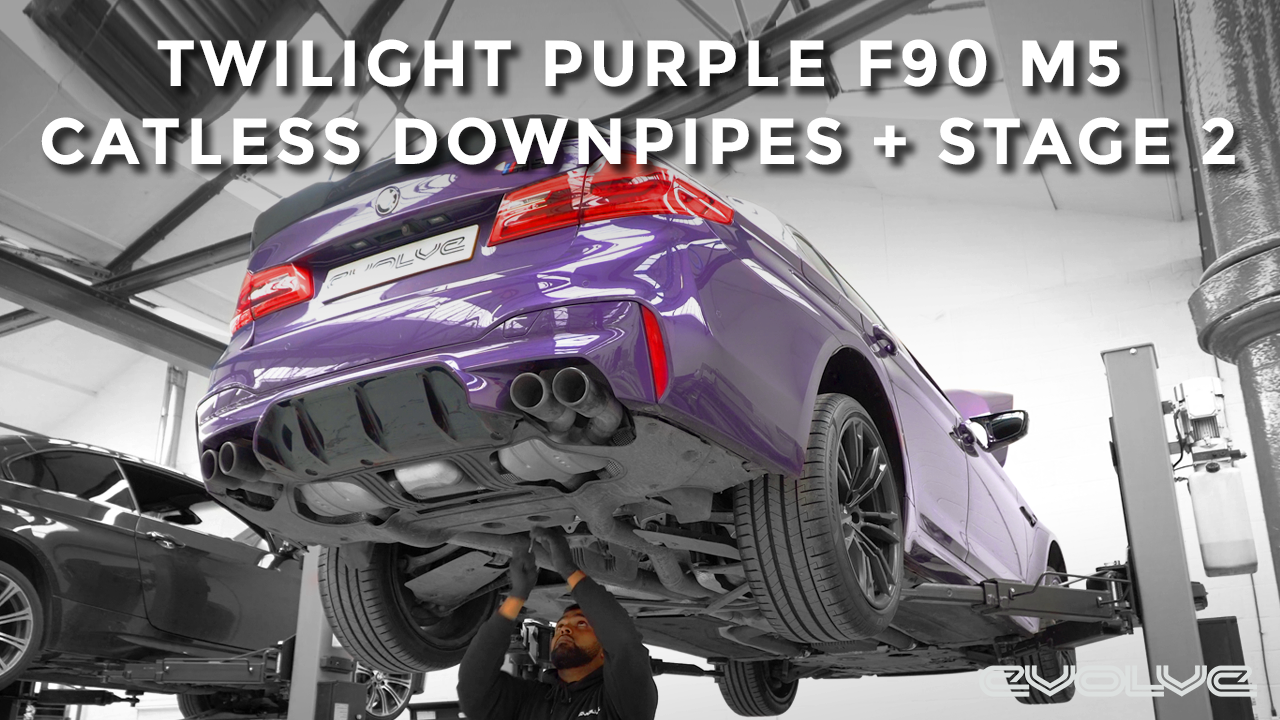 Supersprint Catless Downpipes + Stage 2 Remap for Twilight Purple F90 M5