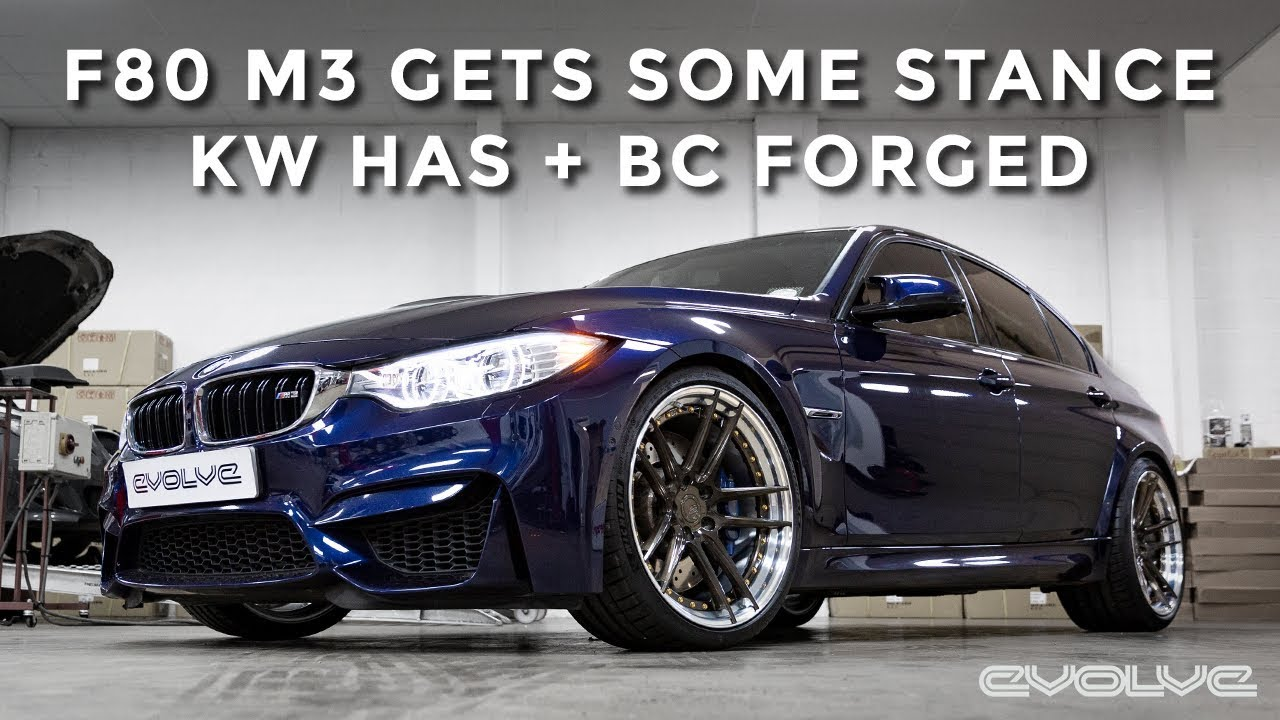 F80 M3 Stance Upgrade - KW HAS kit and BC Forged Wheels