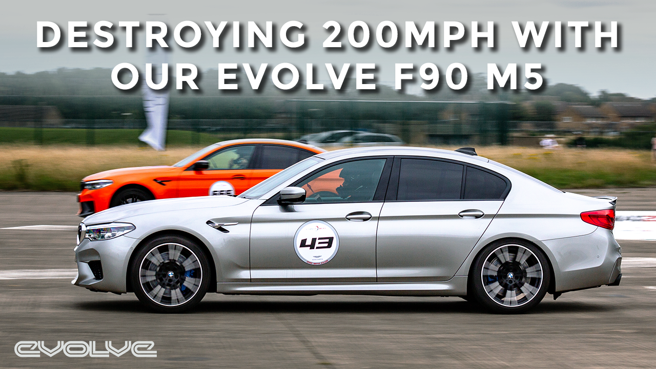 DESTROYING 200mph in the Evolve F90 M5 at VMAX200