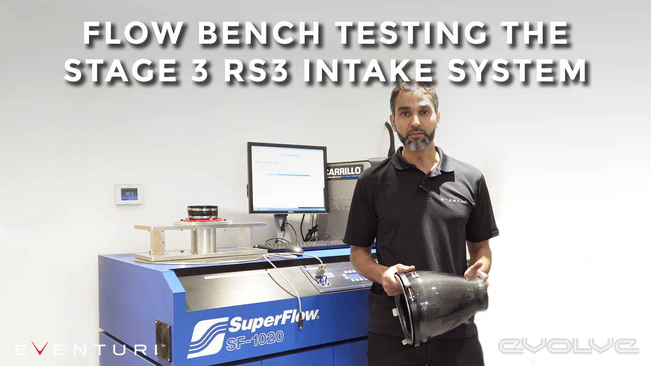 Testing the RS3 8V TT RS 8S Eventuri Stage 3 Intake System on a Flow Bench