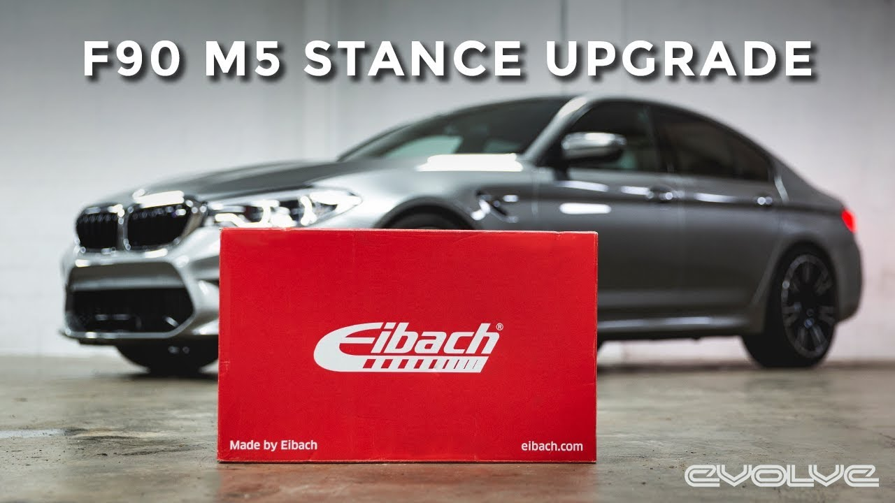 Our F90 M5 gets a stance upgrade! - Eibach Springs + TPI Spacers
