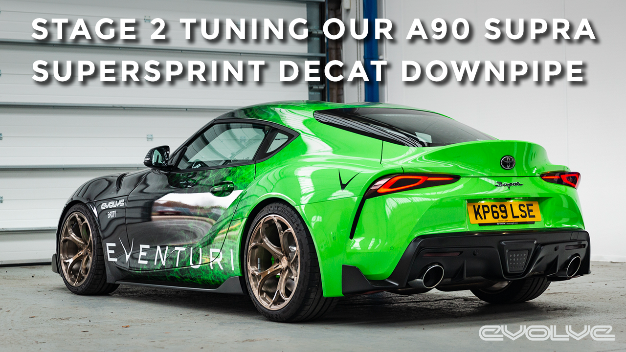 Our Mk5 Supra gets a Supersprint decat and Stage 2 Evolve Tune - Dyno & Dragy Results!