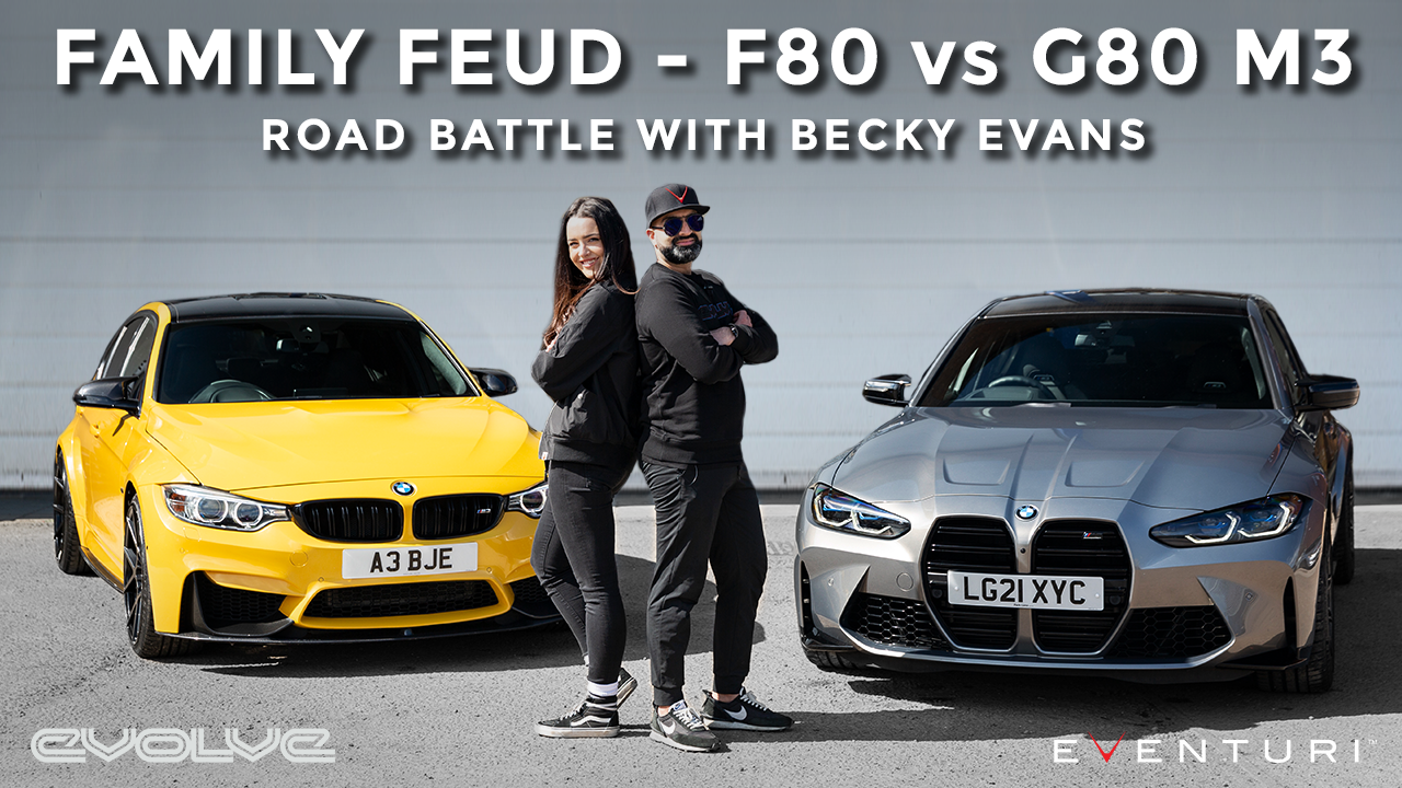 F80 M3 vs G80 M3 - Road Battle with @Becky Evans