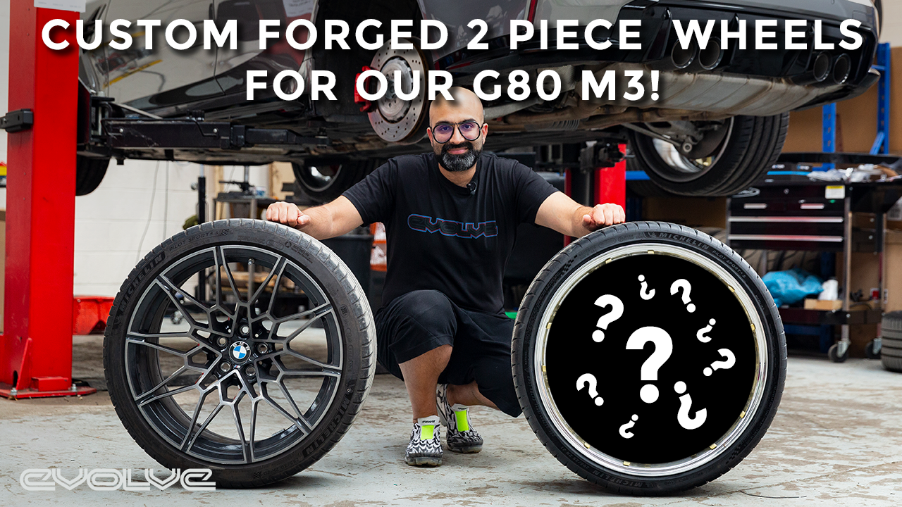 Our G80 M3 gets a set of Custom 2 Piece Forged Wheels!