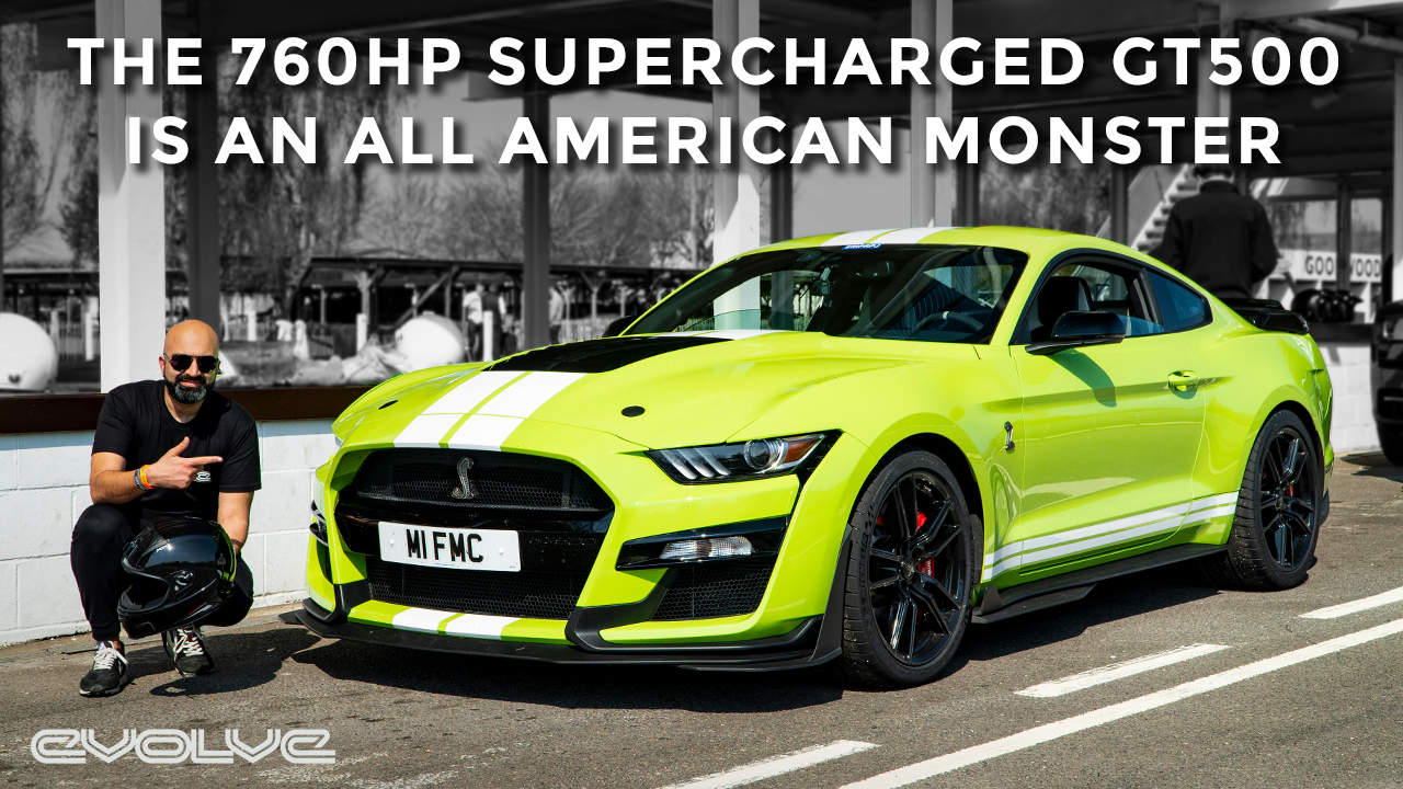 Trying the 760HP Supercharged Ford Mustang GT500 on track at Goodwood